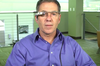 Eyefluence CEO Jim Marggraff sports a modified version of Google Glass that includes his company's eye-tracking technology. Credit: Eyefluence