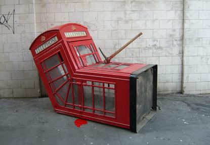 Australia needs its promised level playing field and a healthy, competitive telecommunications industry. Booth by Banksy.