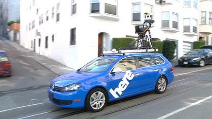 A Nokia mapping car in San Francisco