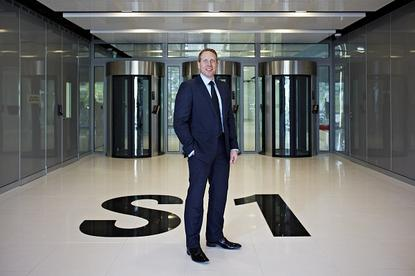 NextDC CEO Craig Scroggie at the entrance to S1.