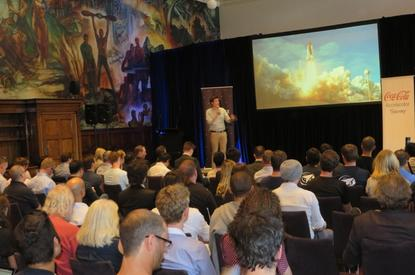 Demo day at Sydney's INCUBATE at the University of Sydney.
