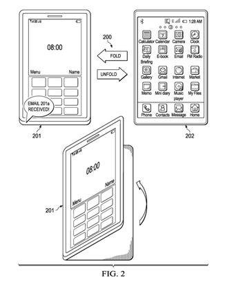 """SAP has filed a patent application describing a """"foldable information worker mobile device"""" that combines a phone, laptop and tablet in one unit."""