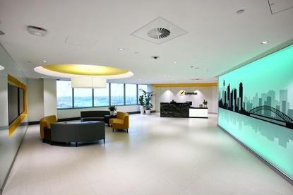 The reception area in Symantec's new $12 million Sydney office.
