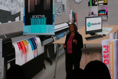 The office is still not paperless, says Annaliese Olson, HP vice president computing solutions.