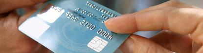 Chip cards contain an embedded computer chip that is read by stores' point-of-sale terminals to enhance security.