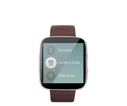 A mockup of the CommBank app on the Apple Watch.