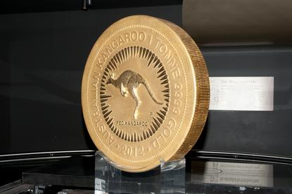 World`s largest gold coin produced by the Perth Mint and weighing in at 1000kg