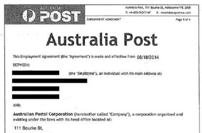 A screenshot of the Australia Post email scam. Photo credit: Australia Post.