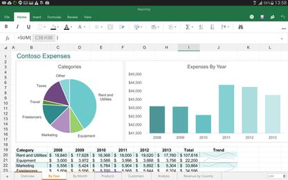 Microsoft has started beta testing Office apps like Excel for Android tablets