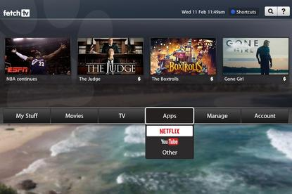 A Netflix app is coming to Fetch TV. Credit: Fetch TV
