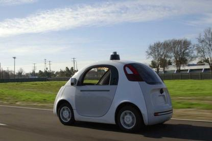 One of the self-driving cars being tested by Google in the US.
