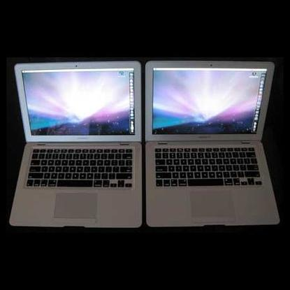 One of these MacBook Airs is not like the other. The first-generation model is on the left; new one is on the right.