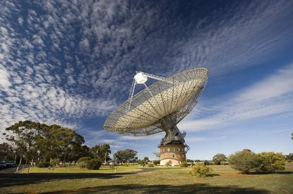 The Parkes Radio telescope. Image credit – David McClenaghan, CSIRO.