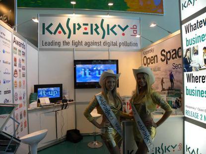 The Kaspersky Meter Maids after a Wardrobe change.