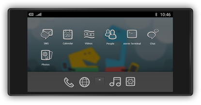 MeeGo 1.1 introduces an interface for mobile phones
