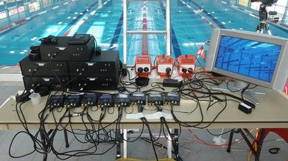 Initial swimming footage and high definition laser scans that will be used to reconstruct each swimmers 3D visual hull was collected in May at the Australian Institute of Sport in Canberra. 