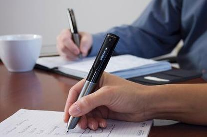 The Livescribe Sky smartpen sends notes by WiFi to Evernote. Credit: Livescribe