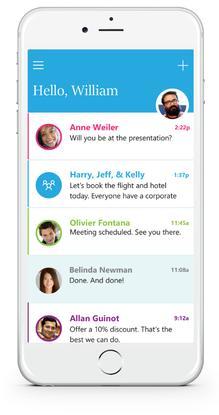 Microsoft's new Send app.