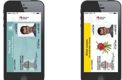A mock up of the proposed digital licences. Image credit: Service NSW.