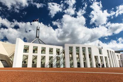 Australian national parliament house in Canberra