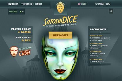 SatoshiDice is the most popular Bitcoin gambling site, according to James Canning of the Bitcoin Betting Guide.