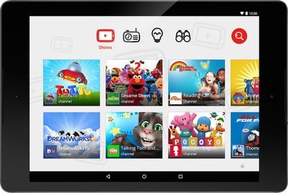 Google's YouTube Kids app features videos geared toward a younger audience.