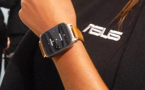The Asus ZenWatch on show in Berlin on September 3, 2014
