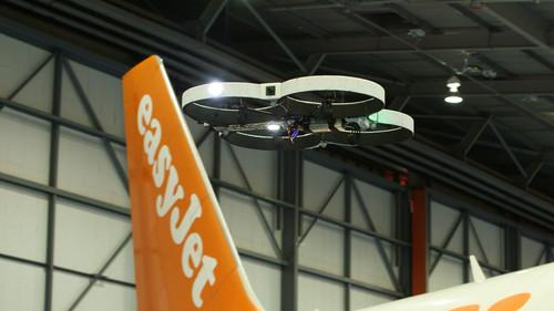 A drone being tested by EasyJet for aircraft inspections
