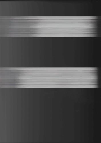 Pulses of light flashed at a scanner lid during scanning results in white lines
