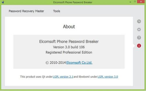 Elcomsoft Phone Password Breaker