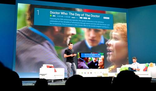 Google's Android TV, demoed on stage at Google I/O.