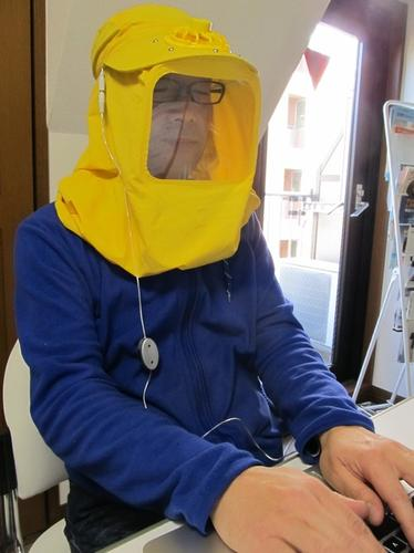 It may look like a joke, but Thanko's USB Pollen Blocker is a hood with filtered ventilation that's designed to protect hay fever sufferers from airborne pollen.