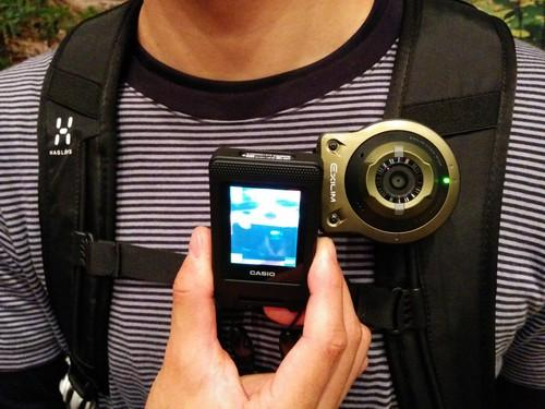 Casio's Exilim EX-FR10 digital camera has a detachable lens unit that can be worn or easily attached to anything from bikes to backpacks or trees.