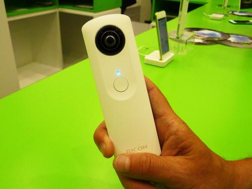 Ricoh's Theta panoramic camera on show at IFA 2013 in Berlin