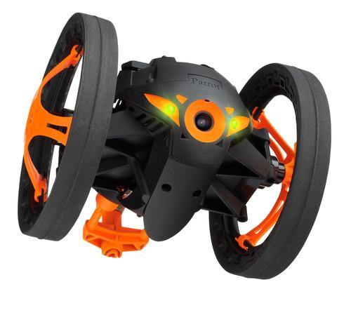 Parrot's Jumping Sumo robot streams real-time video back to its controller.