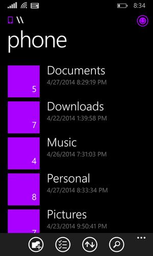 Microsoft is developing a file manager for its Windows Phone 8.1 OS
