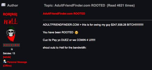 Adult Friend Finder may have been breached as long as two months ago, and  the
