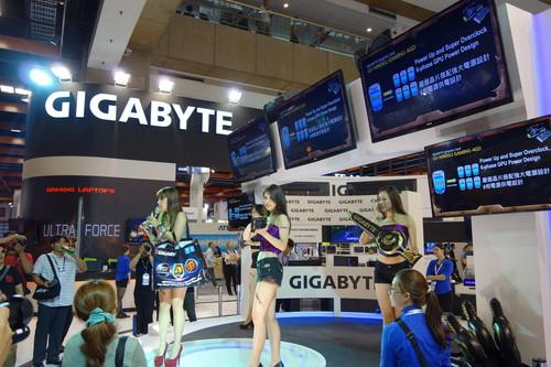 Gigabyte booth at Computex.