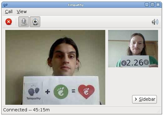 Video calling in GNOME 2.26 with Empathy