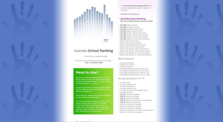 Australia School Ranking gets the green light