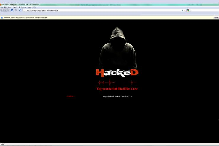 The defacement left on the hacked websites.