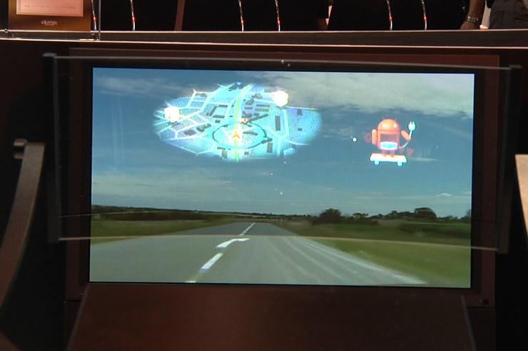 Pioneer's prototype laser HUD on show at Ceatec 2010
