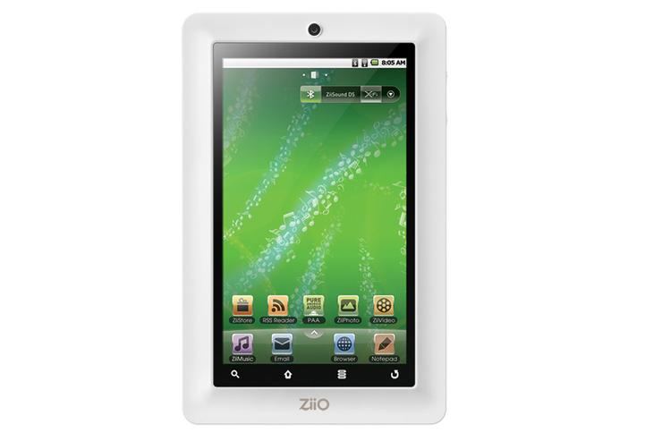 Creative's Ziio Pure Wireless Entertainment 7-inch tablet