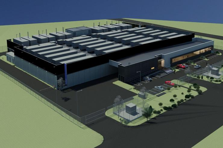 A render of Rackspace's planned data centre in Erskine Park.