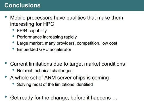 Mobile processors interesting for HPC -- Barcelona Supercomputing Center presentation (slide 8)