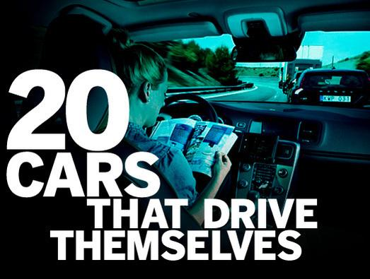In Pictures: 20 cars that drive themselves