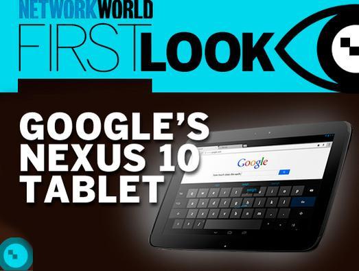 In Pictures: Google's Nexus 10 tablet
