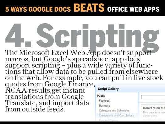 In Pictures: Microsoft Office Web Apps v. Google Docs