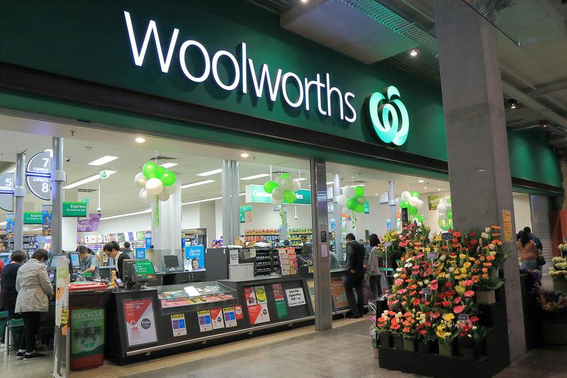 woolworths' store front