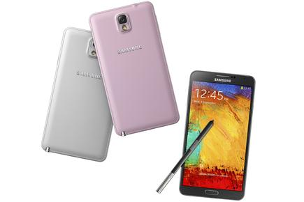 The Samsung Galaxy Note 3.